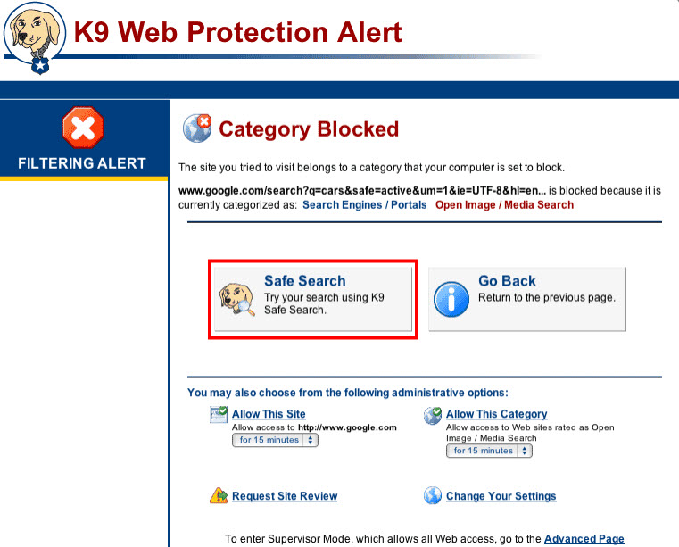 how to use k9 web protection on iphone